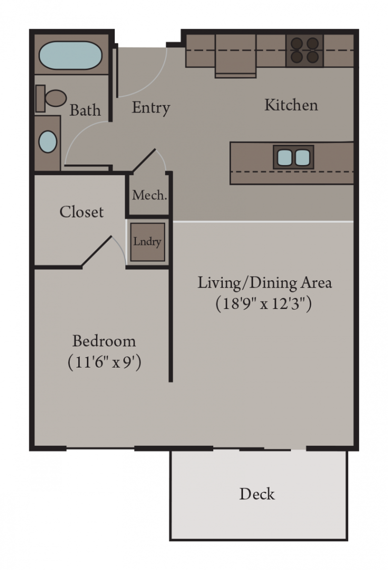 Studio Apartment Floor Plan | Florence